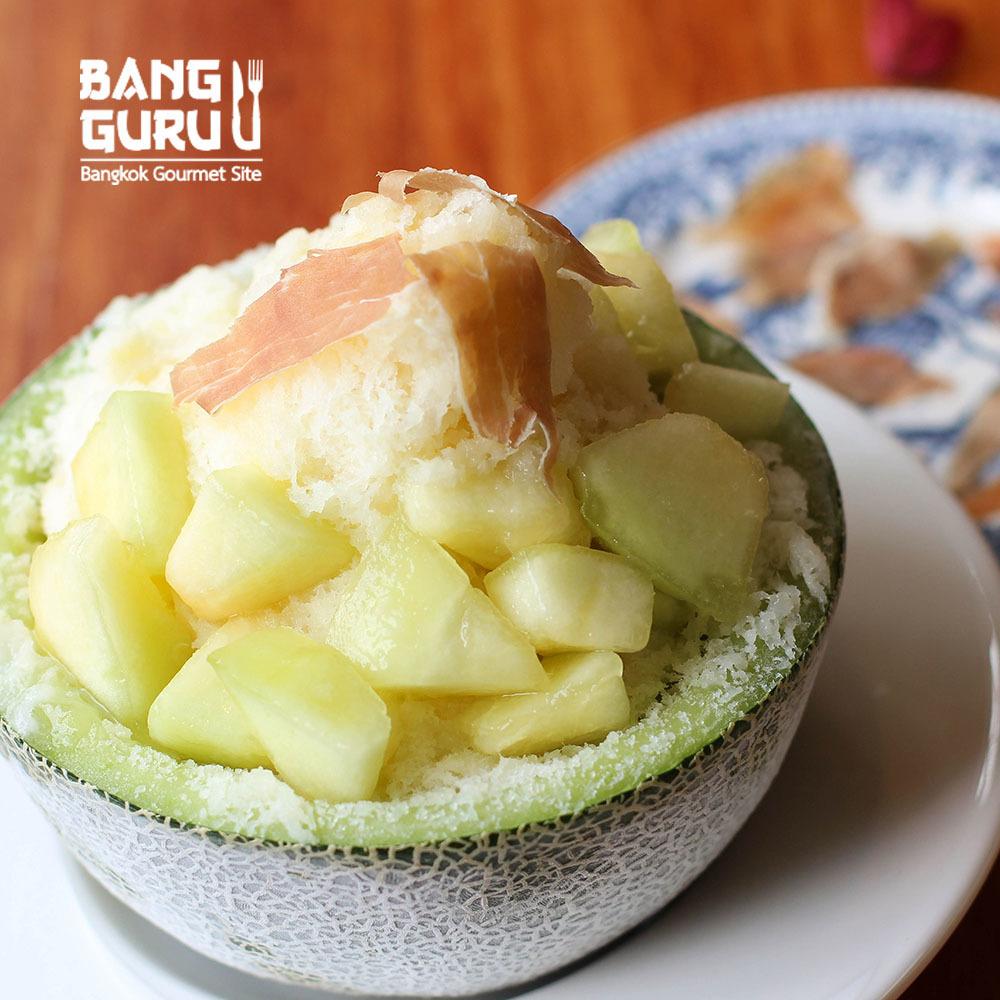 Melon Kakigori & Parma Ham