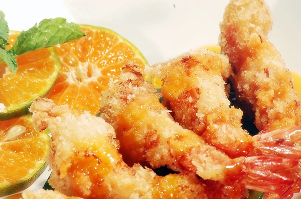 Deep Fried Shrimp with Orange Sauce